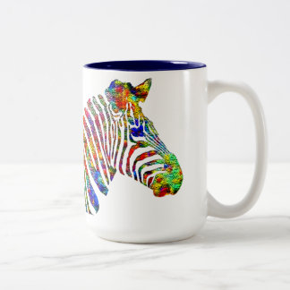 ZEBRA Two-Tone COFFEE MUG