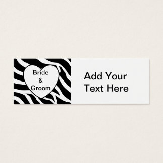 Zebra Wedding Mini Business Card
