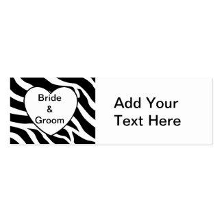 Zebra Wedding Pack Of Skinny Business Cards