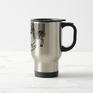 Zebra winning the fight travel mug
