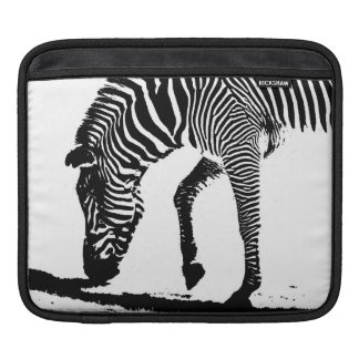 Zebra with Shadow iPad Sleeve