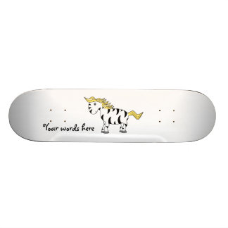 Zebra with yellow mane skateboard
