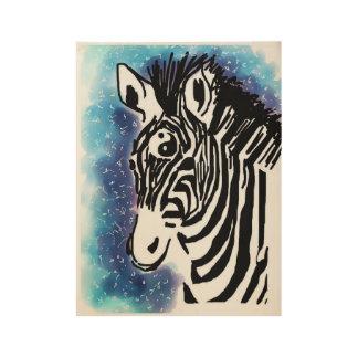 Zebra zen wood poster