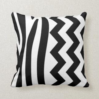 Zebra Zig Zag B&W Pillow