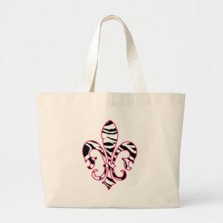 zebrafleur large tote bag