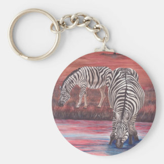 Zebras At Sunset keychain