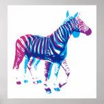 Zebras - Blue & Purple Print