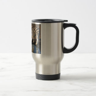 Zebras Drinking at the Watering Hole Mugs