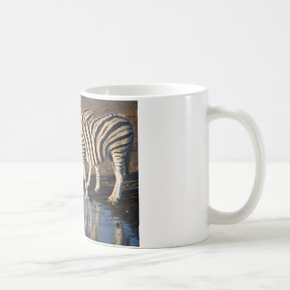 Zebras Drinking at the Watering Hole Coffee Mugs
