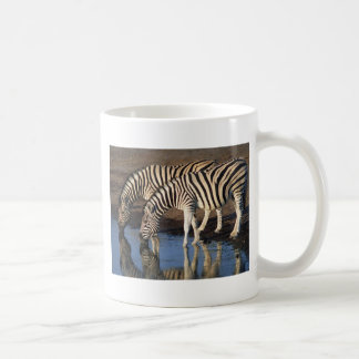 Zebras Drinking at the Watering Hole Mug