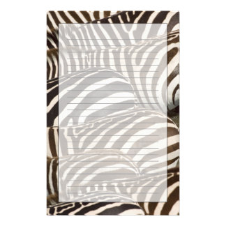 Zebras' (Equus quagga) stripes, Masai Mara Stationery Design