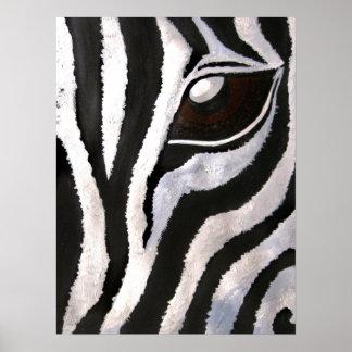 Zebra's Eye (Acrylic by Kimberly Turnbull Art) Poster