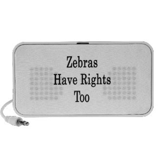 Zebras Have Rights Too Laptop Speaker