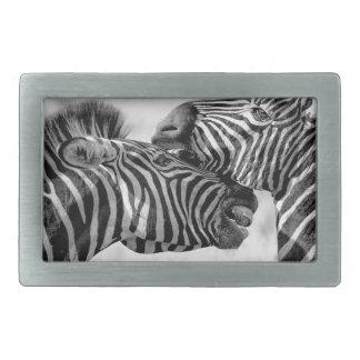 Zebras In Africa Rectangular Belt Buckle
