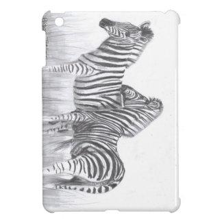 Zebras in black and white iPad mini case