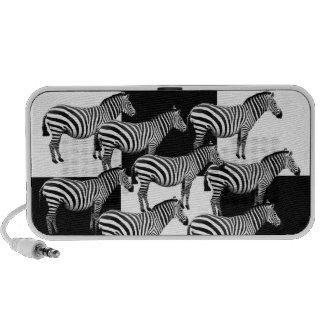 Zebras in Black and White Mini Speakers