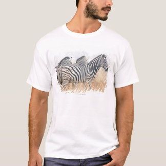 Zebras in early morning dust, Kruger National 2 T-Shirt