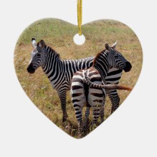 Zebras in Nairobi Kenya Ceramic Ornament