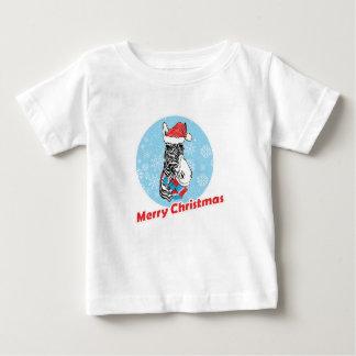 Zebra's Merry Christmas Baby T-Shirt