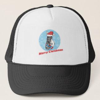 Zebra's Merry Christmas Trucker Hat