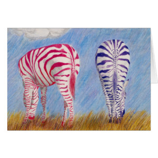 """""""Zebras of a Different Stripe"""" notecards Greeting Card"""