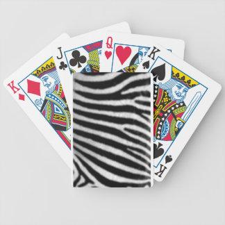 Zebras Bicycle Poker Deck