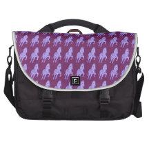 Zebras Trotting Laptop Messenger Bag