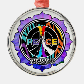Zebrolor Lotus Peace Silver-Colored Round Decoration