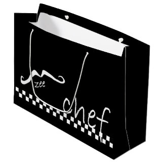Zee French Chef Black LGB Large Gift Bag