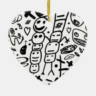 Zef Prawn Ceramic Heart Decoration