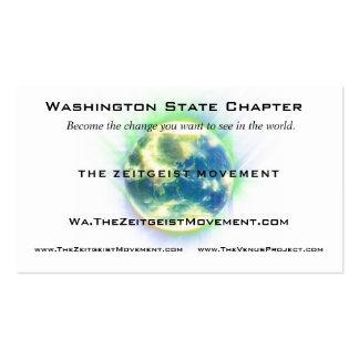 Zeitgeist Movement Globe Pack Of Standard Business Cards