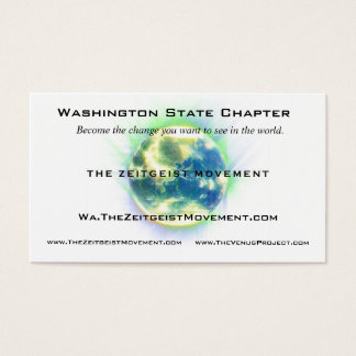 Zeitgeist Movement Globe Business Card