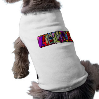ZELDA ~ PERSONALIZED BIG LETTER PET-WARE FOR DOGS! SLEEVELESS DOG SHIRT