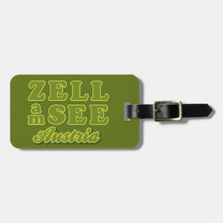Zell am See custom luggage tag