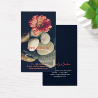 Zen Aromatherapy hot stone massage Appointment Business Card