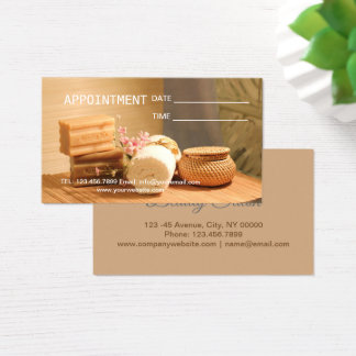 Zen Aromatherapy SPA Massage therapy Appointment Business Card