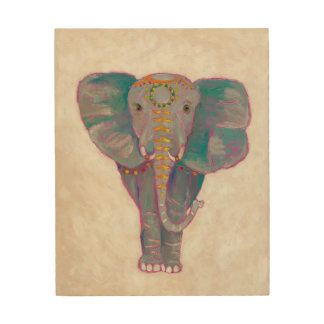 Zen Asian Elephant Wood Wall Art
