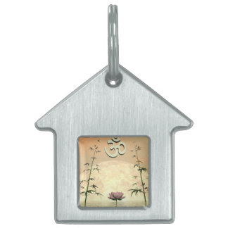 Zen aum - 3D render Pet Name Tag