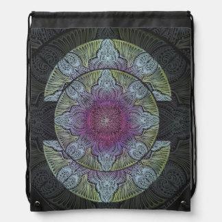 Zen Awakening, reiki, healing, chakra Drawstring Bag