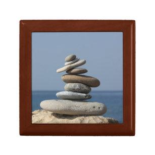 Zen Balance New Age Wooden Keepsake Box - Large