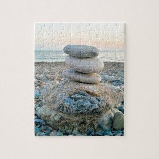 Zen Beach Stones Jigsaw Puzzle