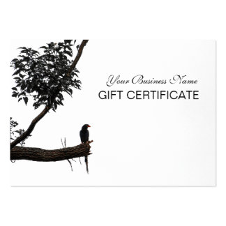 Zen Bird Oriental Zen Photography Gift Certificate Business Cards