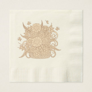 zen bouquet in the basket paper napkin