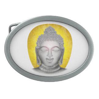 Zen Buddha Oval Belt Buckle