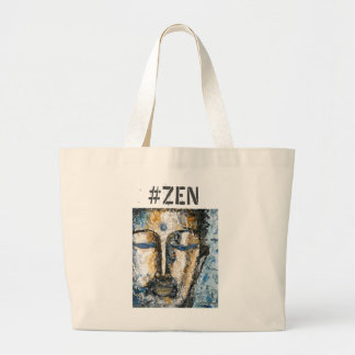 Zen Buddha Watercolor Art Jumbo Tote Bag