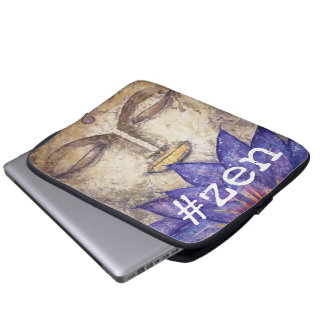 Zen Buddha Watercolor Art Laptop Sleeve