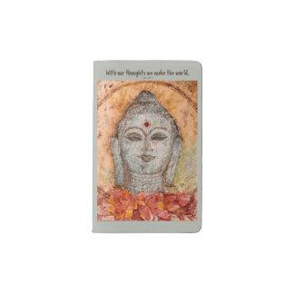 Zen Buddha Watercolor Art Pocket Notebook