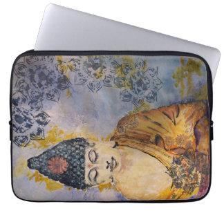Zen Buddha Watercolor Laptop Sleeve