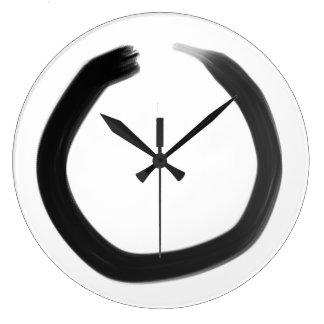 Zen Buddhist Enso Circle Large Clock
