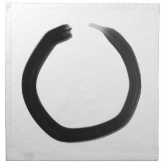 Zen Buddhist Enso Circle Napkin